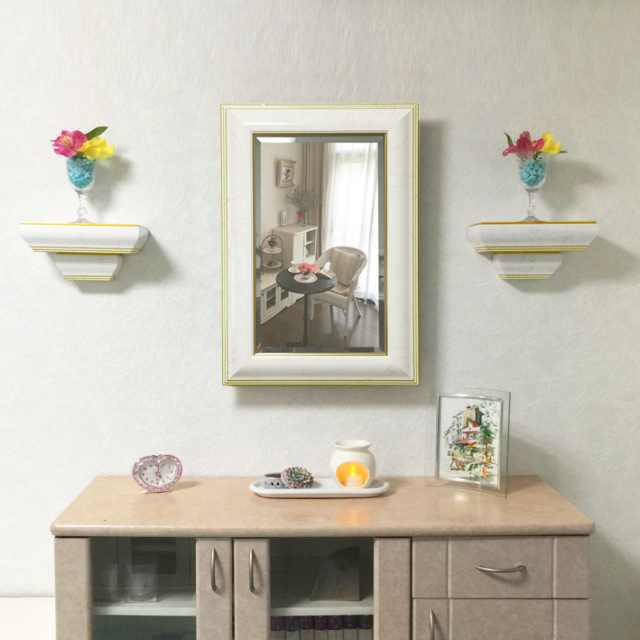 インテリア壁掛け仏壇「鏡壇ミラリエ」設置例-01